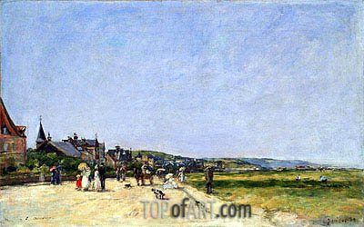 Deauville, the Terrace, 1882 | Eugene Boudin| Painting Reproduction