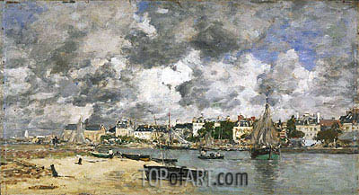 View of Trouville, 1873 | Eugene Boudin| Painting Reproduction