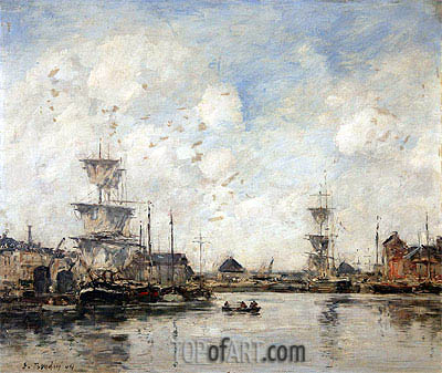 Fecamp, the Basin, 1894 | Eugene Boudin | Painting Reproduction