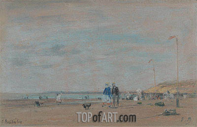 Beach Scene, 1864 | Eugene Boudin | Painting Reproduction