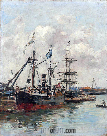 Trouville, the Harbour, 1894 | Eugene Boudin| Painting Reproduction