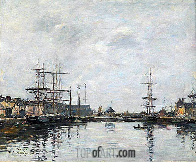 Fecamp, the Basin, 1894 | Eugene Boudin| Painting Reproduction