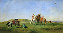 Hunting with Falcons in Algeria | Eugene Fromentin