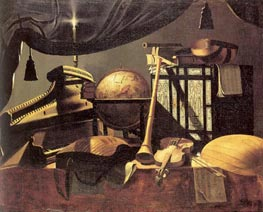 Still-life with Musical Instruments, undated by Baschenis | Painting Reproduction