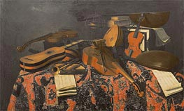 Still Life with Musical Instruments | Baschenis | Painting Reproduction