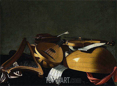 Musical Instruments, undated | Baschenis | Gemälde Reproduktion