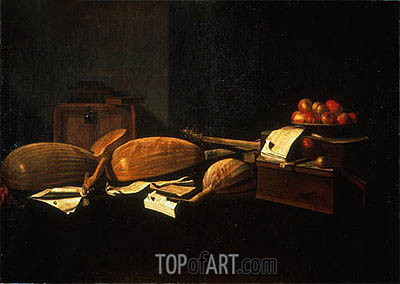 Still Life with Musical Instruments, c.1664/66 | Baschenis | Painting Reproduction