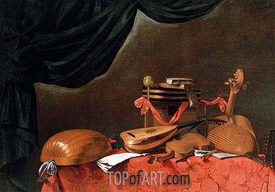 Still Life with Musical Instruments, undated | Baschenis| Painting Reproduction