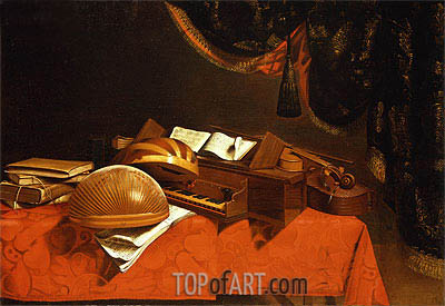 Still Life with Musical Instruments,  | Baschenis | Painting Reproduction