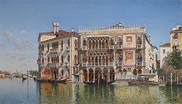 The Ca d'Oro, Venice, 1885 by Federico del Campo | Painting Reproduction