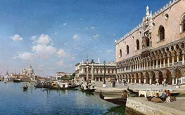 The Grand Canal, Venice, 1890 by Federico del Campo | Painting Reproduction