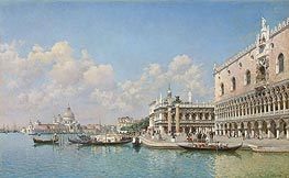 View towards the Doge's Palace and Santa Maria della Salute | Federico del Campo | Painting Reproduction