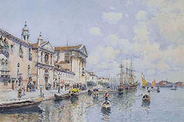 Santa Maria del Rosario and Santa Maria della Visitazione, Venice, undated by Federico del Campo | Painting Reproduction