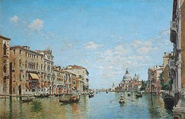View of the Grand Canal of Venice, 1913 von Federico del Campo | Gemälde-Reproduktion