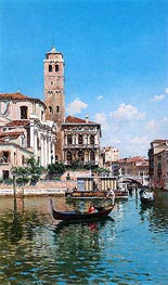 The Palazzo Labia, Venice, 1877 by Federico del Campo | Painting Reproduction