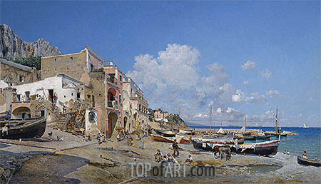 Capri, 1884 | Federico del Campo | Painting Reproduction