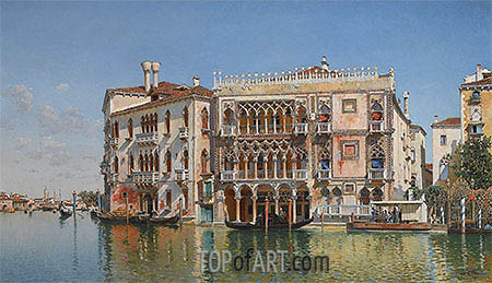 The Ca d'Oro, Venice, 1885 | Federico del Campo| Painting Reproduction