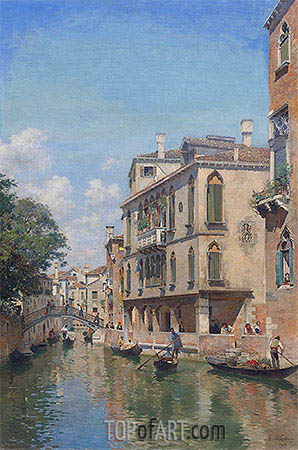 Federico del Campo | A Busy Day on a Venetian Canal, 1910