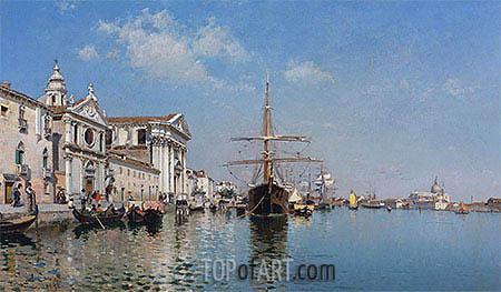 La Chiesa Gesuati from the Canale Della Giudecca, Venice, 1887 | Federico del Campo | Painting Reproduction