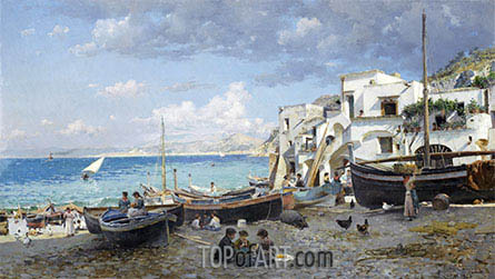 Capri, 1886 | Federico del Campo | Painting Reproduction