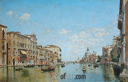 Federico del Campo | View of the Grand Canal of Venice, 1913