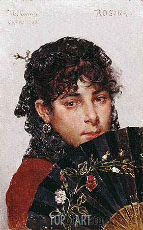 Rosina, 1887 | Federico del Campo | Painting Reproduction