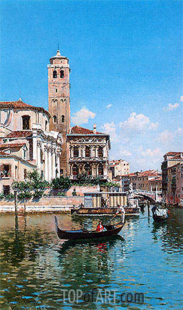 The Palazzo Labia, Venice, 1877 | Federico del Campo | Painting Reproduction