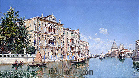 The Grand Canal, 1885 | Federico del Campo | Gemälde Reproduktion