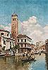 Gondolas on a Venetian Canal | Federico del Campo