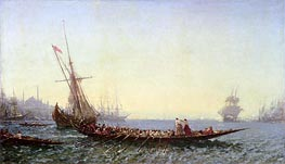 Harbour in Constantinople, c.1880 by Felix Ziem | Painting Reproduction