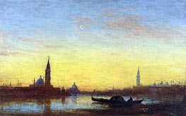 San Giorgio at Sunset, Undated by Felix Ziem | Painting Reproduction