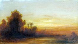 A View of Turkey at Sunset, 1862 by Felix Ziem | Painting Reproduction