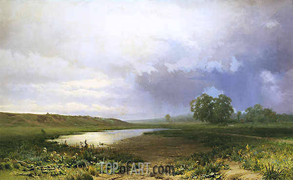 Wet Meadow, 1872 | Feodor Vasilyev | Painting Reproduction