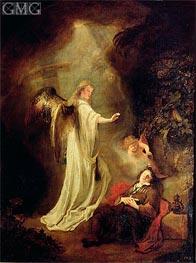 The Dream of Jacob's Ladder, Undated von Ferdinand Bol | Gemälde-Reproduktion