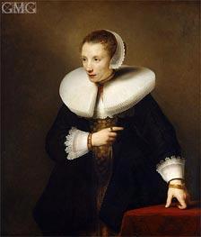 Portrait of an Woman, c.1642/44 von Ferdinand Bol | Gemälde-Reproduktion
