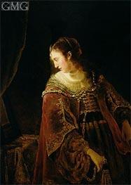 Woman at her Dressing Table, c.1645 von Ferdinand Bol | Gemälde-Reproduktion