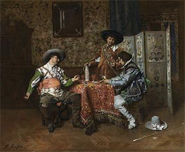 A Game of Cards, Undated by Ferdinand Victor Leon Roybet | Painting Reproduction