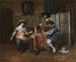A Game of Cards, Undated von Ferdinand Victor Leon Roybet | Gemälde-Reproduktion