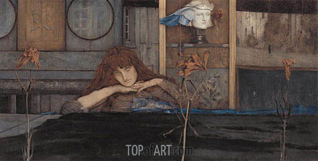 I Lock My Door upon Myself, 1891 | Khnopff | Gemälde Reproduktion