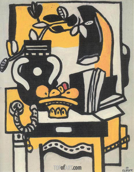 Le Vase Noire, 1949 | Fernand Leger | Painting Reproduction