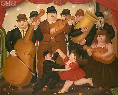 Ball in Colombia, 1980 | Botero | Painting Reproduction