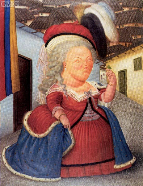Botero | Marie Antoinette Visiting Medellin, Colombia, 1990