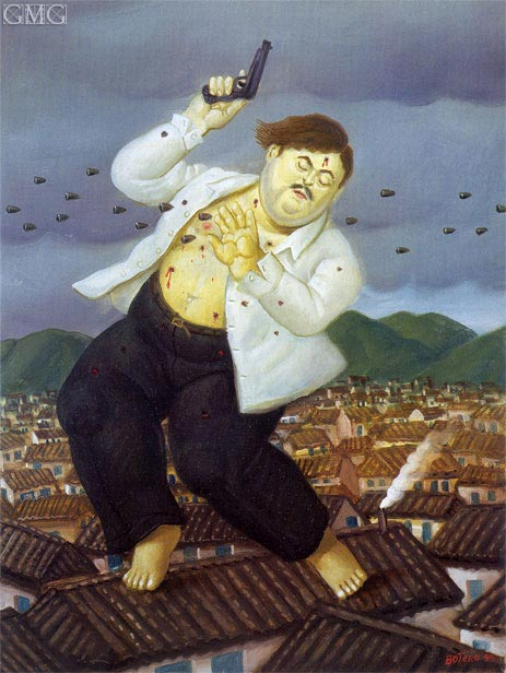 Death of Pablo Escobar, 1999 | Botero | Gemälde Reproduktion