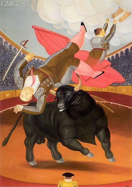 The Death of Luis Chaleta, 1984 | Botero | Gemälde Reproduktion