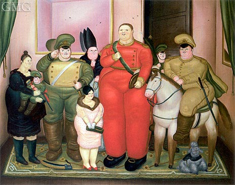 Official Portrait of the Military Junta, 1971 | Botero | Painting Reproduction