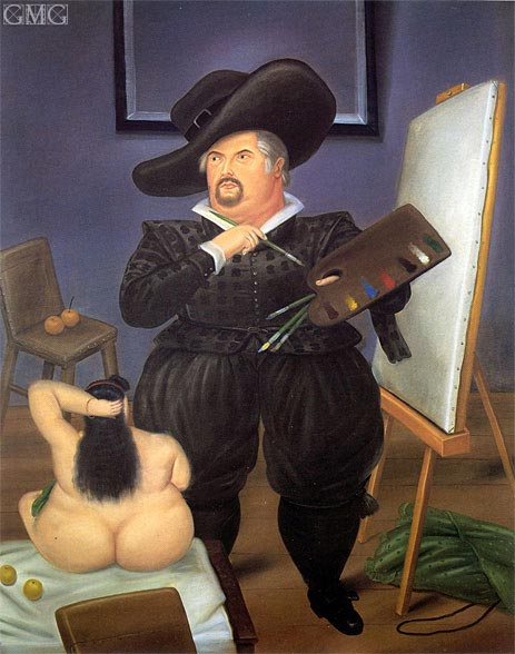 Botero | Self-Portrait in the Costume of Velazquez, 1986