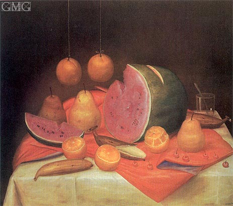 Still-Life with Watermelon, 1974 | Botero | Painting Reproduction