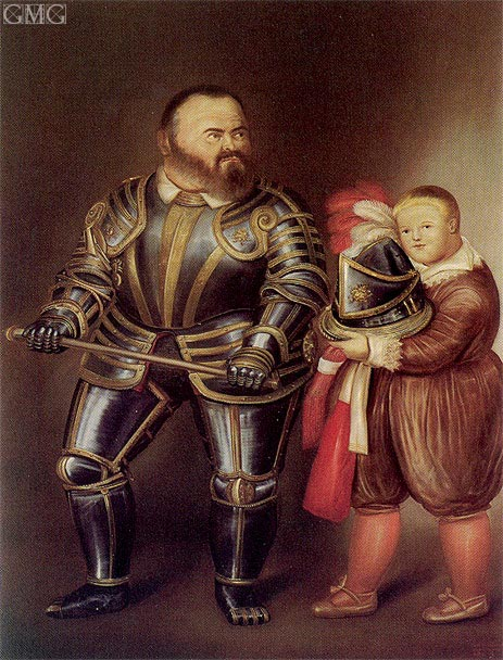 Alof de Vignancourt (after Caravaggio), 1974 | Botero | Painting Reproduction