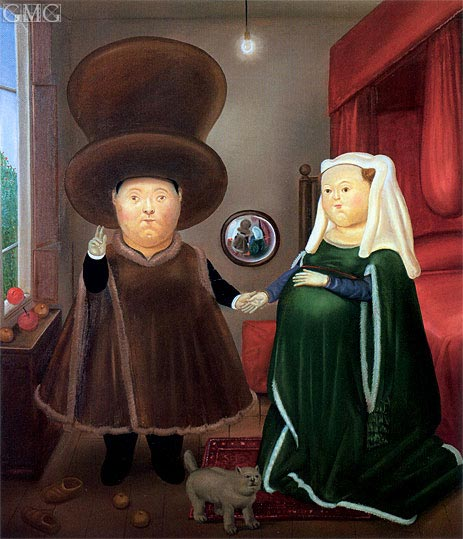 The Arnolfini Marriage (after van Eyck), 1978 | Botero | Painting Reproduction