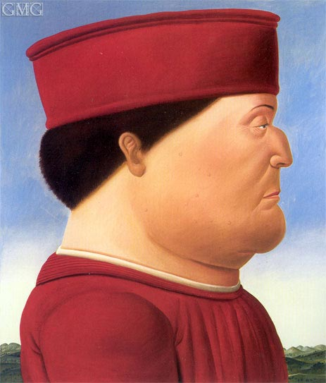 Federico da Montefeltro (after Piero della Francesca), 1998 | Botero | Painting Reproduction